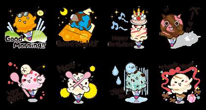 Baskin-Robbins: 2nd Flavor Sticker Line Sticker GIF & PNG Pack: Animated & Transparent No Background | WhatsApp Sticker