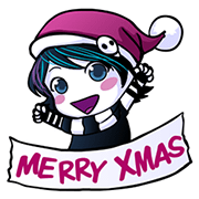 Anna Blue's Christmas EMOticons Sticker for LINE & WhatsApp | ZIP: GIF & PNG