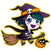 Anna Blue's Halloween Sticker for LINE & WhatsApp | ZIP: GIF & PNG