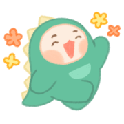 Baby Dino Kua 2 Sticker for LINE & WhatsApp | ZIP: GIF & PNG