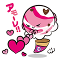 Baskin-Robbins Stickers: They're Back! Sticker for LINE & WhatsApp | ZIP: GIF & PNG