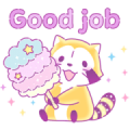 Dreamy Rascal Greeting Stickers Sticker for LINE & WhatsApp | ZIP: GIF & PNG