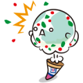 Baskin-Robbins: Flavor Sticker Sticker for LINE & WhatsApp | ZIP: GIF & PNG