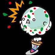 Baskin-Robbins: Flavor Sticker Sticker for LINE & WhatsApp | ZIP: GIF & PNG