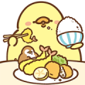 FoodieG Big Stickers: Foodie Office Sticker for LINE & WhatsApp | ZIP: GIF & PNG