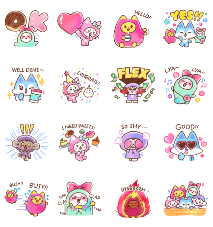 From ITZY comes WDZY! Line Sticker GIF & PNG Pack: Animated & Transparent No Background | WhatsApp Sticker