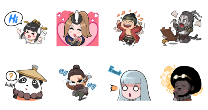 Hunters Arena: Cutie Bubbly Hunters Line Sticker GIF & PNG Pack: Animated & Transparent No Background | WhatsApp Sticker