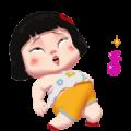Khing Khing Happy Girl 2 Sticker for LINE & WhatsApp | ZIP: GIF & PNG