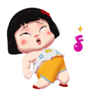 Khing Khing Happy Girl 2 Sticker for LINE & WhatsApp   ZIP: GIF & PNG