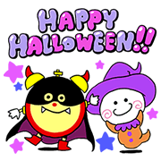 Kororin: Halloween Stickers Sticker for LINE & WhatsApp | ZIP: GIF & PNG