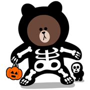 LINE Halloween Special Sticker for LINE & WhatsApp   ZIP: GIF & PNG