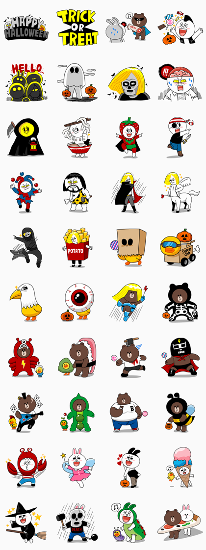 LINE Halloween Special Line Sticker GIF & PNG Pack: Animated & Transparent No Background   WhatsApp Sticker