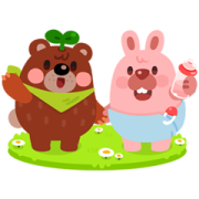 LINE PokoPoko Baby Pokota Stickers Sticker for LINE & WhatsApp | ZIP: GIF & PNG