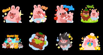 LINE PokoPoko Baby Pokota Stickers Line Sticker GIF & PNG Pack: Animated & Transparent No Background | WhatsApp Sticker