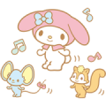 My Melody Moving Backgrounds Sticker for LINE & WhatsApp | ZIP: GIF & PNG