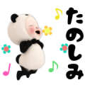 Pop-Up Panda Towel 2 Sticker for LINE & WhatsApp | ZIP: GIF & PNG