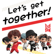 TinyTAN: MIC Drop Sticker for LINE & WhatsApp | ZIP: GIF & PNG