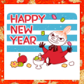 Moomin: New Year's Animated Stickers Sticker for LINE & WhatsApp | ZIP: GIF & PNG