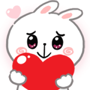 N9: CHEER Rabbit Animated 2 Sticker for LINE & WhatsApp | ZIP: GIF & PNG