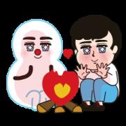 Namchibi's Winter Love Story Sticker for LINE & WhatsApp | ZIP: GIF & PNG