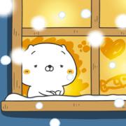 Originator! Friends Cat HOKKORI Sticker for LINE & WhatsApp   ZIP: GIF & PNG