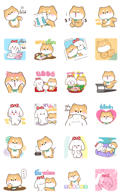 Shibung & Bingsu: Pop-Ups Line Sticker GIF & PNG Pack: Animated & Transparent No Background   WhatsApp Sticker