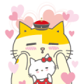 Small talk between AMA and Hello Kitty Sticker for LINE & WhatsApp | ZIP: GIF & PNG