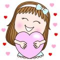 SweetGirl × RMS Music Hits: Everyday Use Sticker for LINE & WhatsApp | ZIP: GIF & PNG