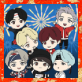 TinyTAN New Year's Big Stickers Sticker for LINE & WhatsApp | ZIP: GIF & PNG