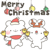 Usakkuma with Polite Language X'mas Sticker for LINE & WhatsApp | ZIP: GIF & PNG