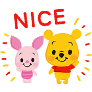 Winnie the Pooh (Crayon) Sticker for LINE & WhatsApp | ZIP: GIF & PNG