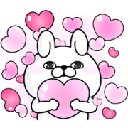 YOSISTAMP-Rabbit 100% Pop-Up Stickers Sticker for LINE & WhatsApp | ZIP: GIF & PNG