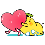 BananaMan: Clingy Clingy Sticker for LINE & WhatsApp | ZIP: GIF & PNG