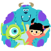 Cuddly Monsters, Inc. Sticker for LINE & WhatsApp | ZIP: GIF & PNG