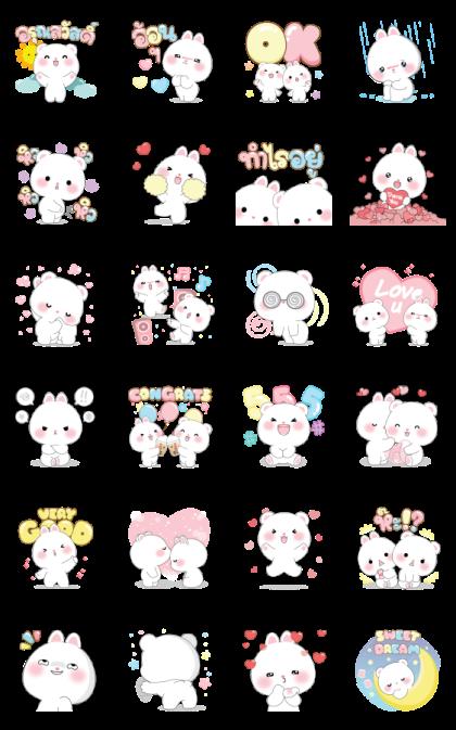 Micool & Taicutie Pop-Ups Line Sticker GIF & PNG Pack: Animated & Transparent No Background | WhatsApp Sticker