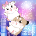 Pudding Hamster 6: Big Stickers 1 Sticker for LINE & WhatsApp | ZIP: GIF & PNG
