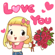 Biscuit Love Love Sticker for LINE & WhatsApp | ZIP: GIF & PNG