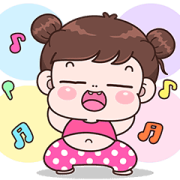 Boobib La La La Sticker for LINE & WhatsApp | ZIP: GIF & PNG