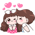 Boobie Couple Effect Stickers