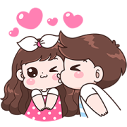 Boobie Couple Effect Stickers Sticker for LINE & WhatsApp | ZIP: GIF & PNG
