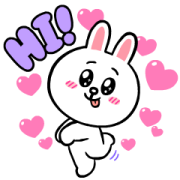 Brown & Cony's Rosy Love Sticker for LINE & WhatsApp | ZIP: GIF & PNG