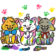 Disney Cats Sticker for LINE & WhatsApp | ZIP: GIF & PNG