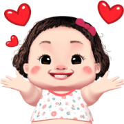 Lamyai Love You Sticker for LINE & WhatsApp | ZIP: GIF & PNG