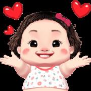 Lamyai Love You Sticker for LINE & WhatsApp   ZIP: GIF & PNG