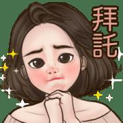 Milkie Miki Big Stickers Sticker for LINE & WhatsApp | ZIP: GIF & PNG
