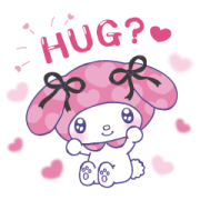 My Melody: Too Much Love Sticker for LINE & WhatsApp | ZIP: GIF & PNG