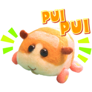 PUI PUI MOLCAR Sticker for LINE & WhatsApp | ZIP: GIF & PNG
