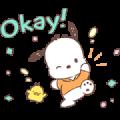Pochacco Animated Stickers: Soft