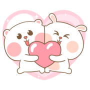 Sweet Marshmallow Couple 3 Sticker for LINE & WhatsApp | ZIP: GIF & PNG