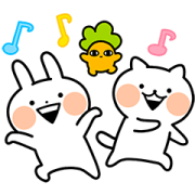 Usagyuuun and Nekogyuuun Sticker for LINE & WhatsApp | ZIP: GIF & PNG